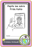 Pepita lee sobre Frida Kahlo Spanish Printable Minibook