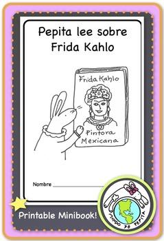 Pepita lee sobre Frida Kahlo Spanish Printable Minibook