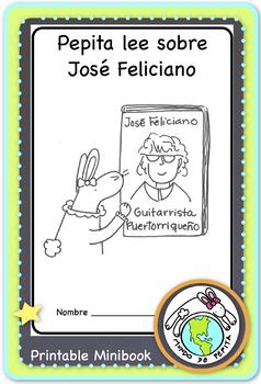 Pepita lee sobre Jose Feliciano A simple biography in Spanish