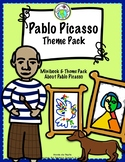 Pepita lee sobre Pablo Picasso Spanish Minibook and Activity Theme Pack