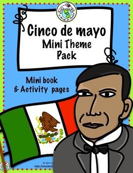 Pepita lee sobre el Cinco de mayo Printable Spanish Minibook