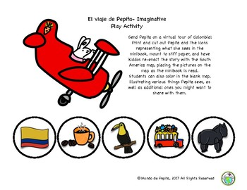 Pepita va a Colombia Spanish Minibook & Activity Pack Culture in Context