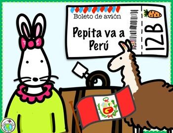 Pepita va a Perú Culture Activity Pack Printable Minibook Spanish Resources