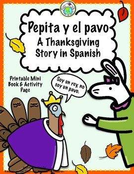 Pepita y el pavo Thanksgiving Printable Spanish Minibook & Activity Page