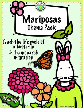 Mariposas Butterfly Life Cycle Activity Pack & Spanish Pri