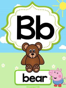 Peppa Pig Alphabet Posters