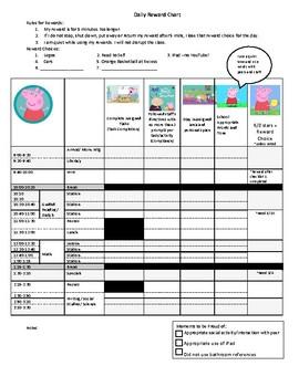 Peppa Pig Daily Behavior Chart