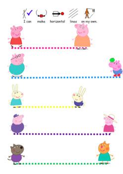 Peppa Pig Pre Writing Pencil Control Activity Worksheet