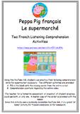 Peppa Pig français Le Supermarché Listening Comprehension