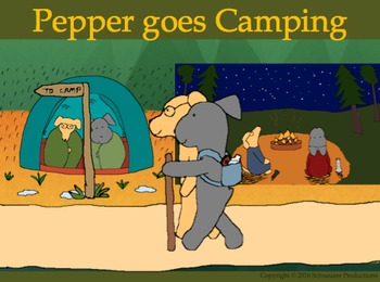 Pepper Goes Camping in English