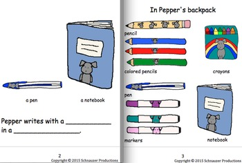Pepper's Classroom Items in English