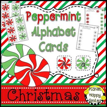 Alphabet Matching Cards ~ Peppermint/Christmas