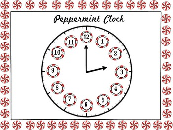 Peppermint Analog Clock for the Holidays
