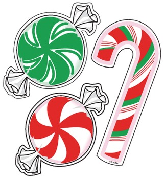 Peppermint Candy - Holiday Cut-Out Decor