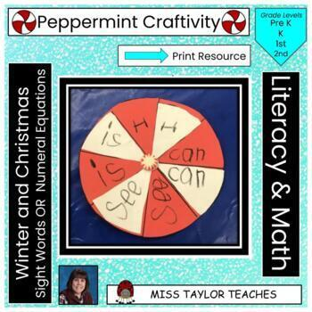 Peppermint Candy Sight Word Winter Christmas Craftivity!