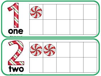 Peppermint Christmas Candy Tens-Frames Freebie