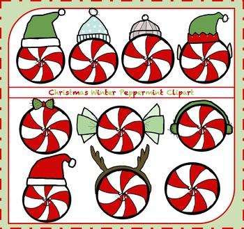 Peppermint Clipart / Winter Peppermint Clipart {Christmas Clipart}