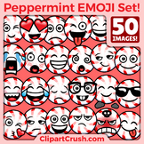 Peppermint Emoji Clipart Faces / Peppermint Cartoon Candy Emojis Emotions