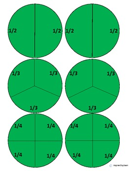 Peppermint Fractions Cut and Paste for Autism