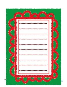 Holiday Handwriting Writing Paper