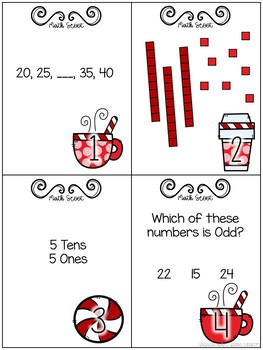 Peppermint Hot Chocolate Scoot {Math Game}