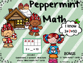 Peppermint Math ~ What Makes 10?  BONUS Ten and Some More Cards