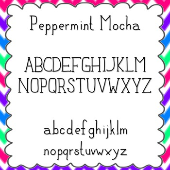 Peppermint Mocha Font {personal and commercial use; no lic