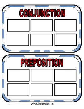 Peppermint Parts of Speech Folder Game