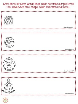 Christmas Social Skills Activities Point of View