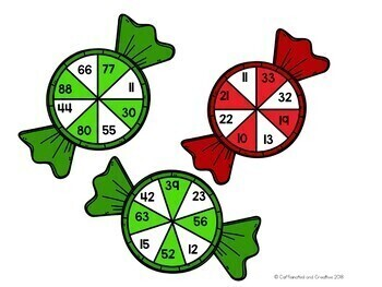 Peppermint Addition and Multiplication Spinners Center