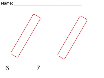 Peppermint Stick Math - Numbers 6 and 7