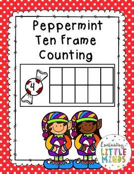 Peppermint Ten Frame Counting 1-10