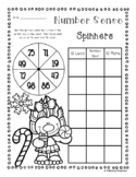 Peppermint Trolls Number Sense: 10 More, 10 Less, 100 More, 100 Less Spinners