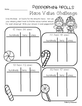 Peppermint Trolls Place Value Challenge