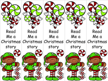 Peppermint elf 2 bookmark
