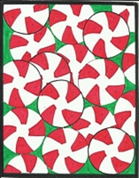 Peppermints Color by Number Christmas