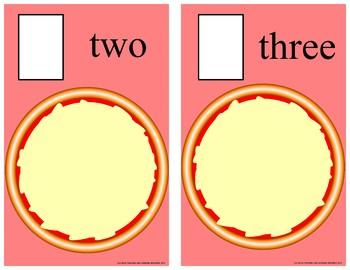 Pepperoni Pizza Counting 0 -10 Mats - Learning Center Kit