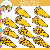 Pepperoni Pizza Counting Clip Art