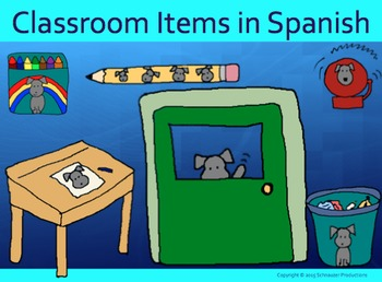 Pepper's Classroom Items in Spanish