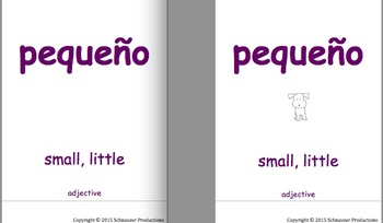 Pepper's Flexible Word Wall, Booklets and Flashcard Games in Spanish