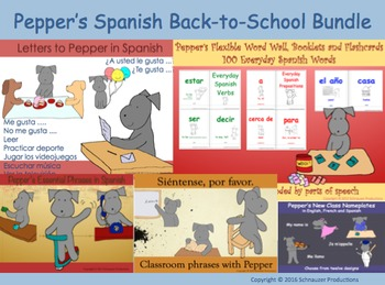Pepper's Spanish Back-to-School Bundle