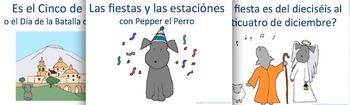 Pepper's Spanish Go Fish / Memory Card Game - Holidays and Seasons