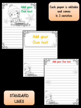 Peppy Pencil Writing Prompts & Editable Papers: Fall, Autumn, September, October