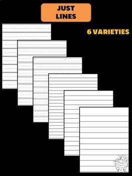 Peppy Pencil Writing Paper: Halloween, Primary and Standard Varieties