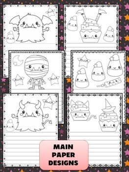 Peppy Pencil Writing Paper: Halloween Trick or Treat, Editable, Monsters