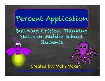 Percent Application Activity ~ Middle School Math