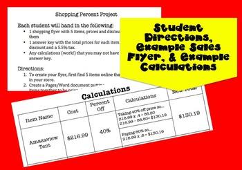 Percent Application - Sales Flyer Project