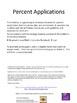 Percent Applications Foldable: Tax, Tip, Percent