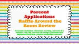 Percent Applications Raffle Around the Room (Task Cards)