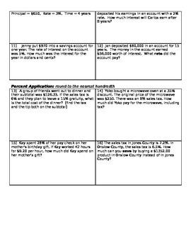 Percent Applications Unit Review
